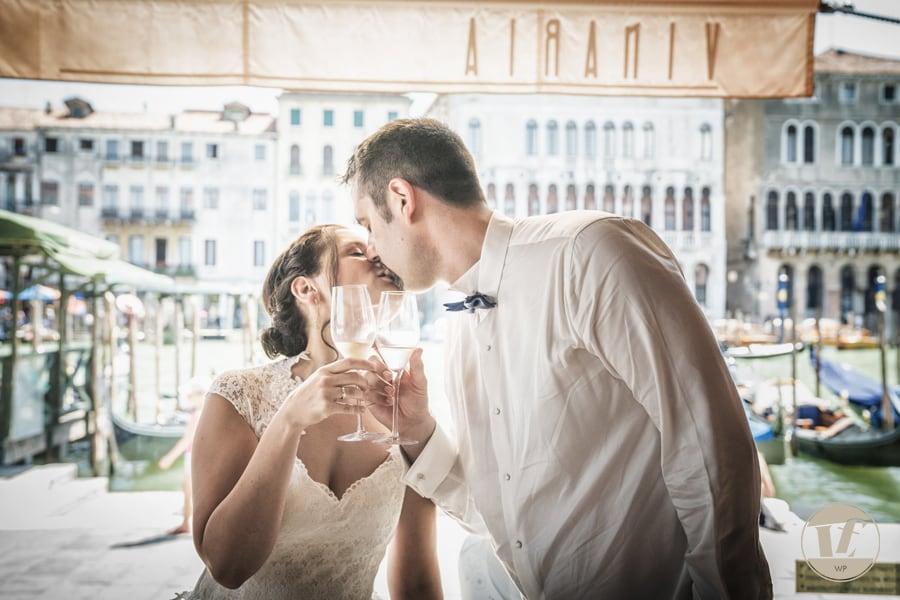 Intimate wedding in Venice Italy