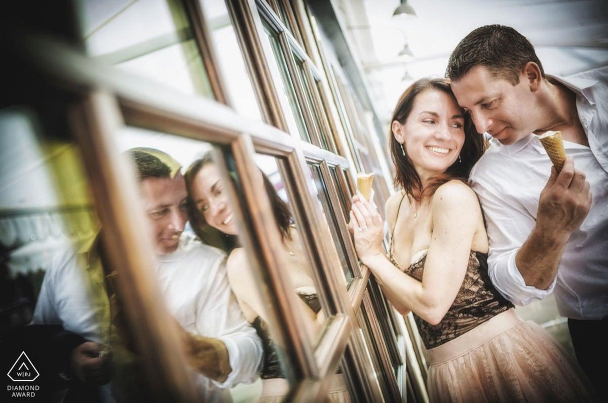 International engagement photography award. Luca Fabbian award winning engagement photographer Venice, Italy