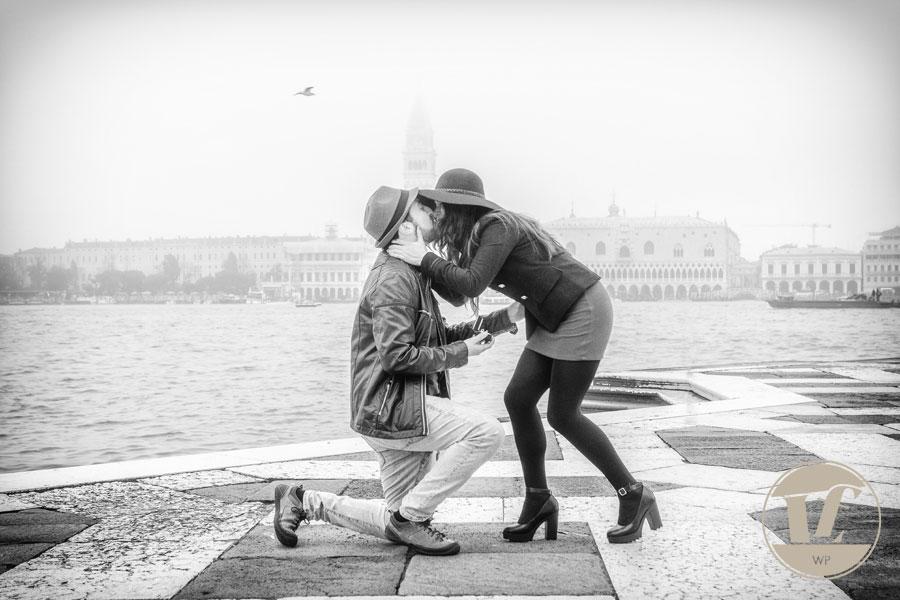 Venice surprise proposal photographer