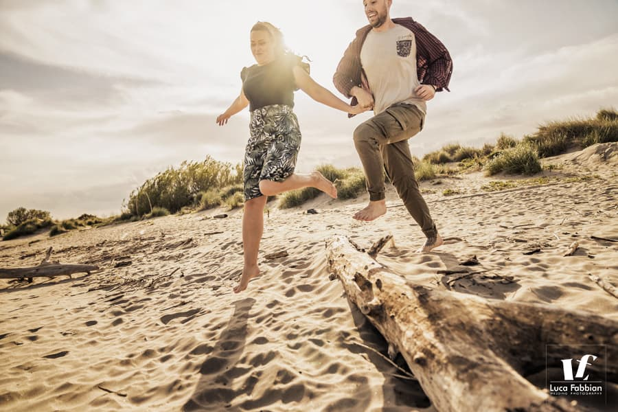 Couple photography by the sea in Venice area