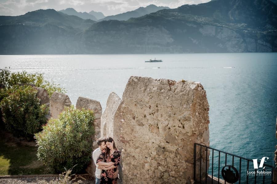 couple photoshoot Malcesine Lake Garda