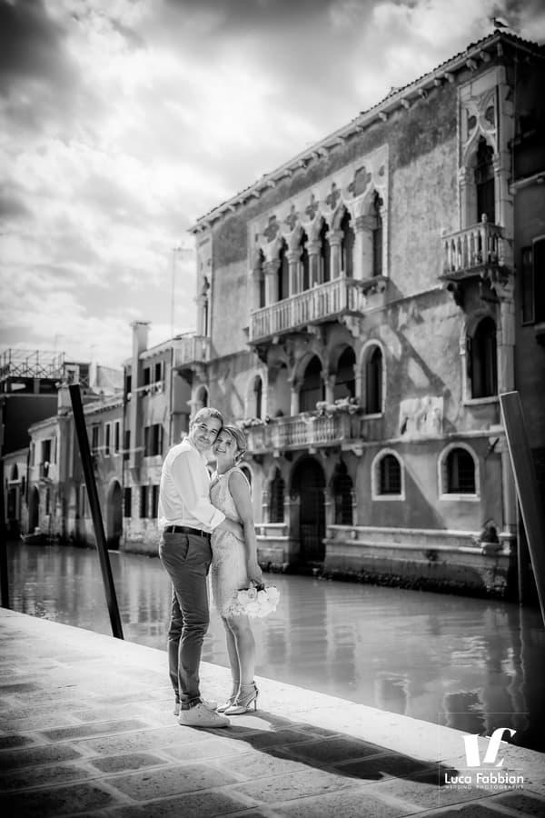 Venice elopement portrait