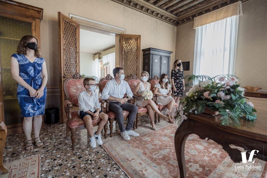 Elopement ceremony at Palazzo Cavalli - Venice
