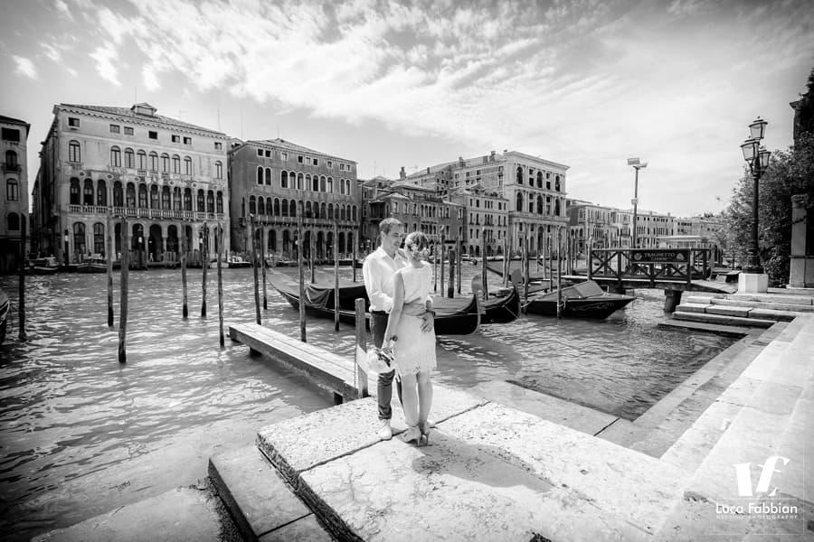 Grand Canal Venice intimate wedding