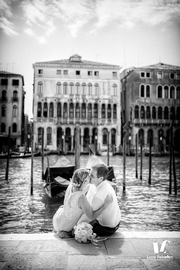 Grand Canal Venice elopement portrait photography