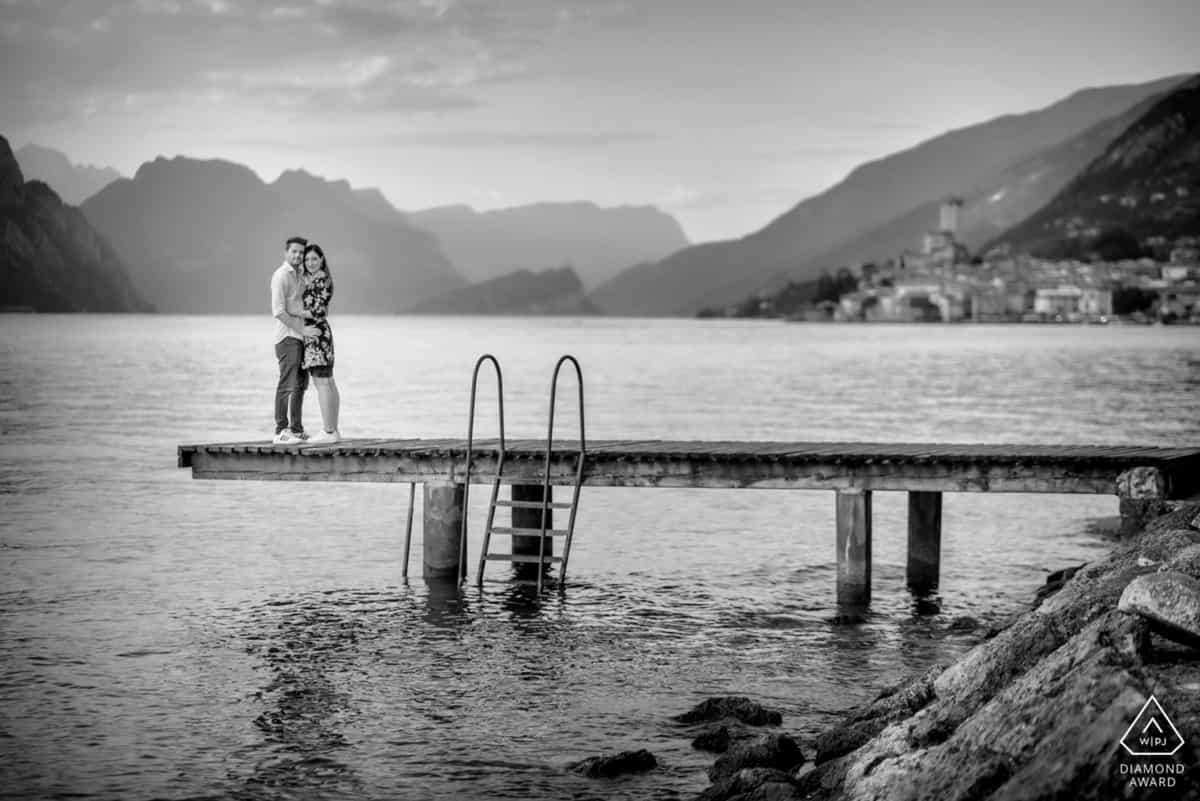 Lake Garda Malcesine engagement photographer